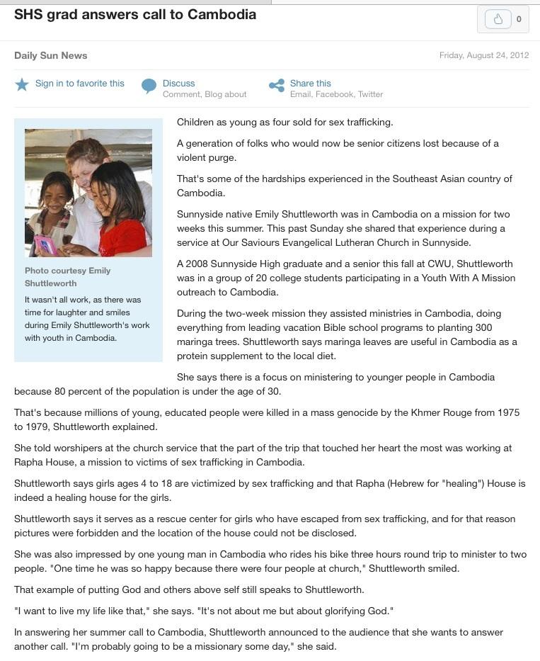 Daily Sun News 8/24/12